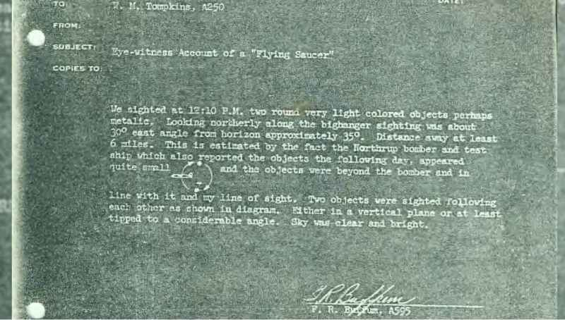 16 Memo Eye Witness Account Of A Flying Saucer