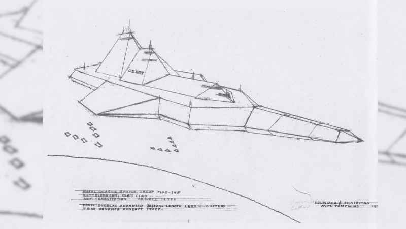 2 Two Km Spacecraft Carrier Drawing