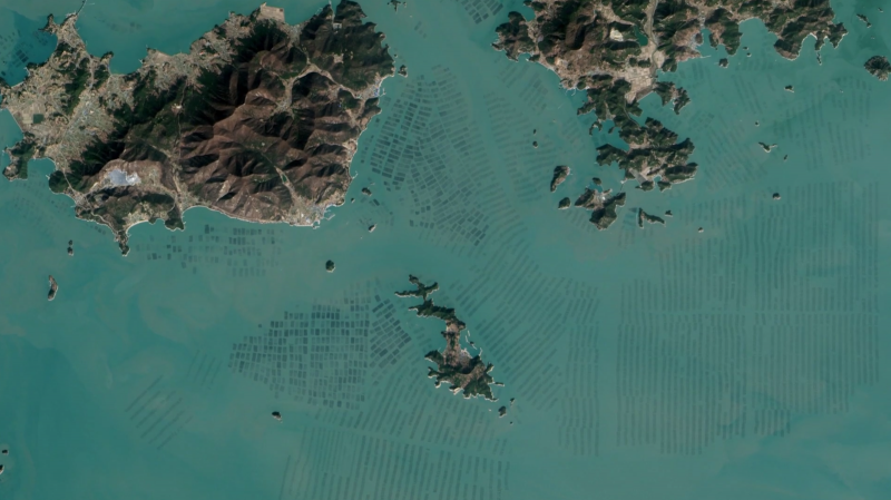 43 Aerial View Of Kelp Farm 1